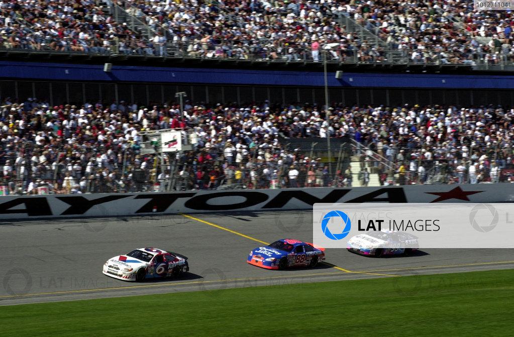 2000 Daytona 500, February 20, 2000, Daytona, FL, USAJarrett chases Mark Martin while Jeff Burton looks on.2000 Daytona NASCAR-2000, Michael L. Levitt, USALAT PHOTOGRAPHIC