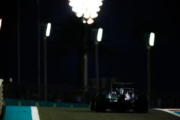 Yas Marina Circuit, Abu Dhabi, United Arab Emirates. Saturday 22 November 2014. Lewis Hamilton, Mercedes F1 W05 Hybrid. World Copyright: Glenn Dunbar/LAT Photographic. ref: Digital Image _W2Q5718
