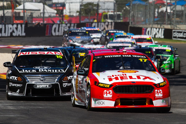 2015 V8 Supercar Championship Round 1.  Clipsal 500, Adelaide, Australia. Friday 28th February to Sunday 1st March 2015. Marcos Ambrose (17, DJR Team Penske).  World Copyright: Daniel Kalisz/LAT Photographic Ref: Digital Image V8SC15R1_CLIPSAL500_DKIMG06080.JPG