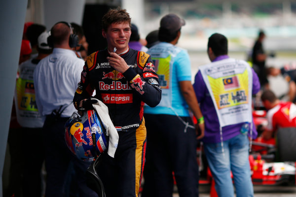 Sepang International Circuit, Sepang, Kuala Lumpur, Malaysia. Saturday 28 March 2015. Max Verstappen, Toro Rosso. World Copyright: Andrew Hone/LAT Photographic. ref: Digital Image _ONZ9948
