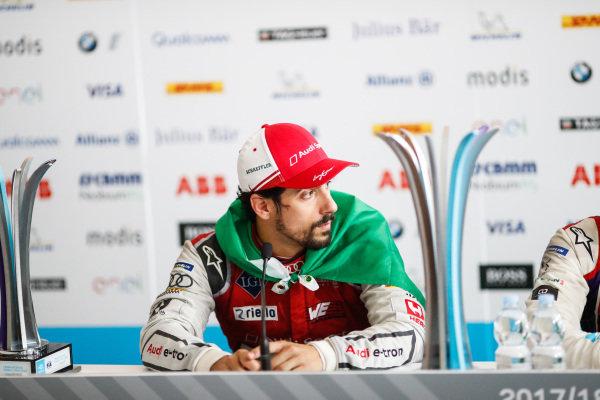 Lucas Di Grassi (BRA), Audi Sport ABT Schaeffler, Audi e-tron FE04, in the post race press conference.