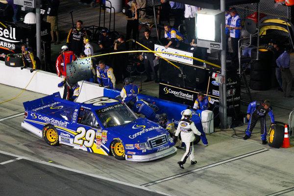 21-22 February, 2013, Daytona Beach, Florida USA Ryan Blaney pit stop.(c)2013, Russell LaBounty LAT Photo USA .