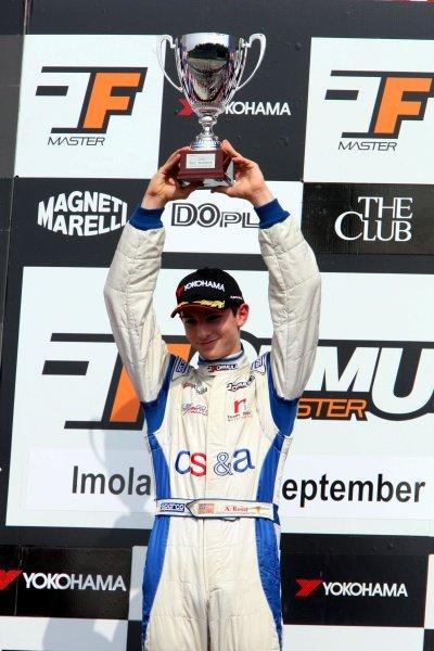 Race 2 winner Alexander Rossi (USA), ISR. International Formula Master, Rd8, Imola, San Marino, Italy, 20 September 2009.