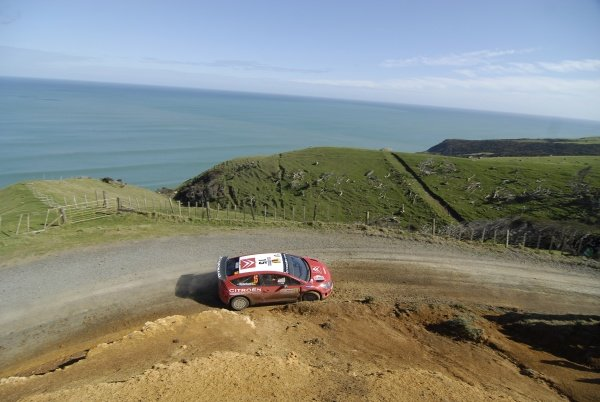 Conrad Rautenbach (ZWE), Citroen C4 WRC, on stage 13.FIA World Rally Championship, Rd11, Repco Rally New Zealand, Day Three, Sunday 31 August 2008.