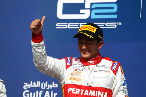 2015 GP2 Series Round 1 - Bahrain International Circuit, Bahrain. Sunday 19 April 2015. Rio Haryanto (INA, Campos Racing)  Photo: Sam Bloxham/GP2 Series Media Service. ref: Digital Image _G7C8907