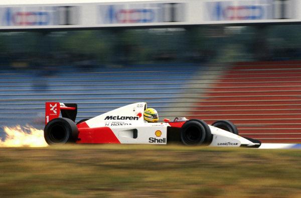 Ayrton Senna (BRA) McLaren Honda MP4/6 German GP, Hockenheim, 28 July 1991