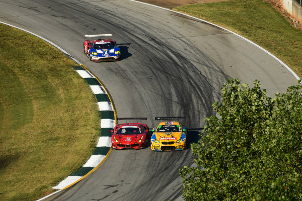 28 September -1 October 2016,  Braselton, Georgia USA 62, Ferrari, F488 GTE, GTLM, Giancarlo Fisichella, Toni Vilander, James Calado, 97, BMW, M6 GT3, GTD, Michael Marsal, Markus Palttala ©2016, Richard Dole LAT Photo USA