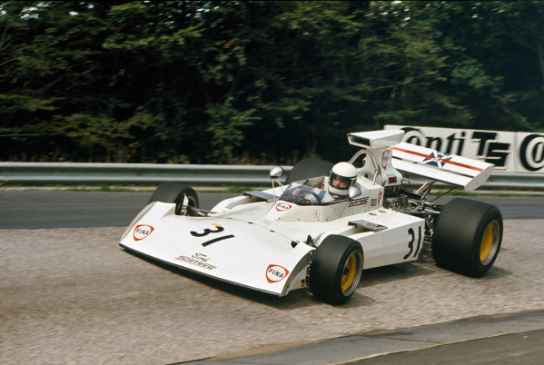 1973 German Grand Prix.  Nurburgring, Germany. 3-5th August 1973.  Jochen Mass, Surtees TS14A Ford, 7th position.  Ref: 73GER36. World Copyright: LAT Photographic