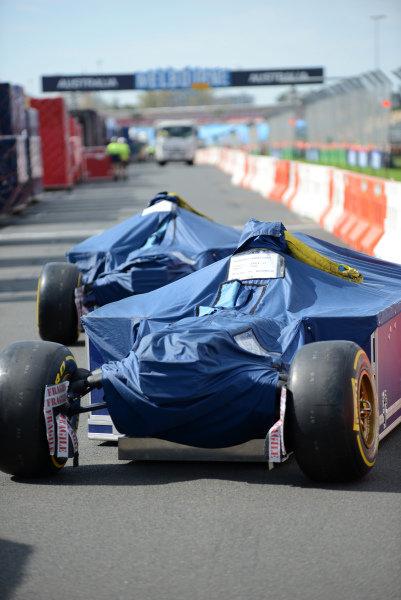 Scuderia Toro Rosso STR8 freight is unloaded.Formula One World Championship, Rd1, Australian Grand Prix, Preparations, Albert Park, Melbourne, Australia, Monday 11 March 2013.