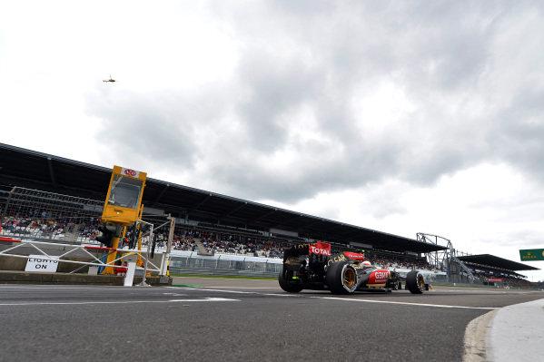 Romain Grosjean (FRA) Lotus E21. Formula One World Championship, Rd9, German Grand Prix, Practice, Nurburgring, Germany, Friday 5 July 2013.