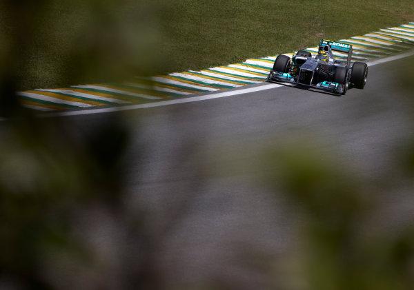 Interlagos, Sao Paulo, Brazil. 25th November 2011. Nico Rosberg, Mercedes GP W02. Action.  World Copyright: Steve Etherington/LAT Photographic ref: Digital Image SNE24654