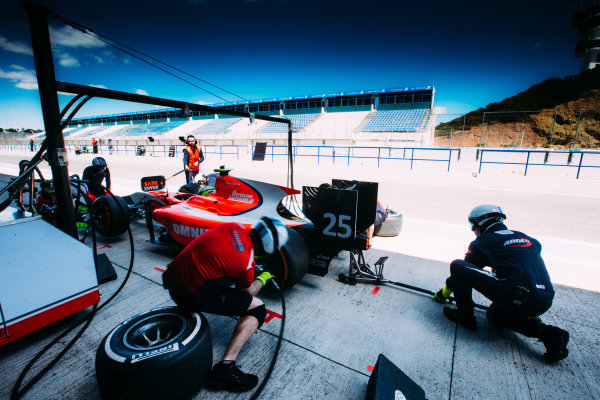 2016 GP2 Series Testing. Jerez, Spain. Thursday 31 March 2016 Jimmy Eriksson (SWE) Arden International  World Copyright: Malcolm Griffiths/LAT Photographic. ref: Digital Image F80P9330