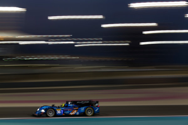 2015 FIA World Endurance Championship Bahrain 6-Hours Bahrain International Circuit, Bahrain Saturday 21 November 2015. Nelson Panciatici, Paul Loup Chatin, Tom Dillmann (#36 LMP2 Signatech Alpine Alpine A450B Nissan). World Copyright: Sam Bloxham/LAT Photographic ref: Digital Image _SBL5620