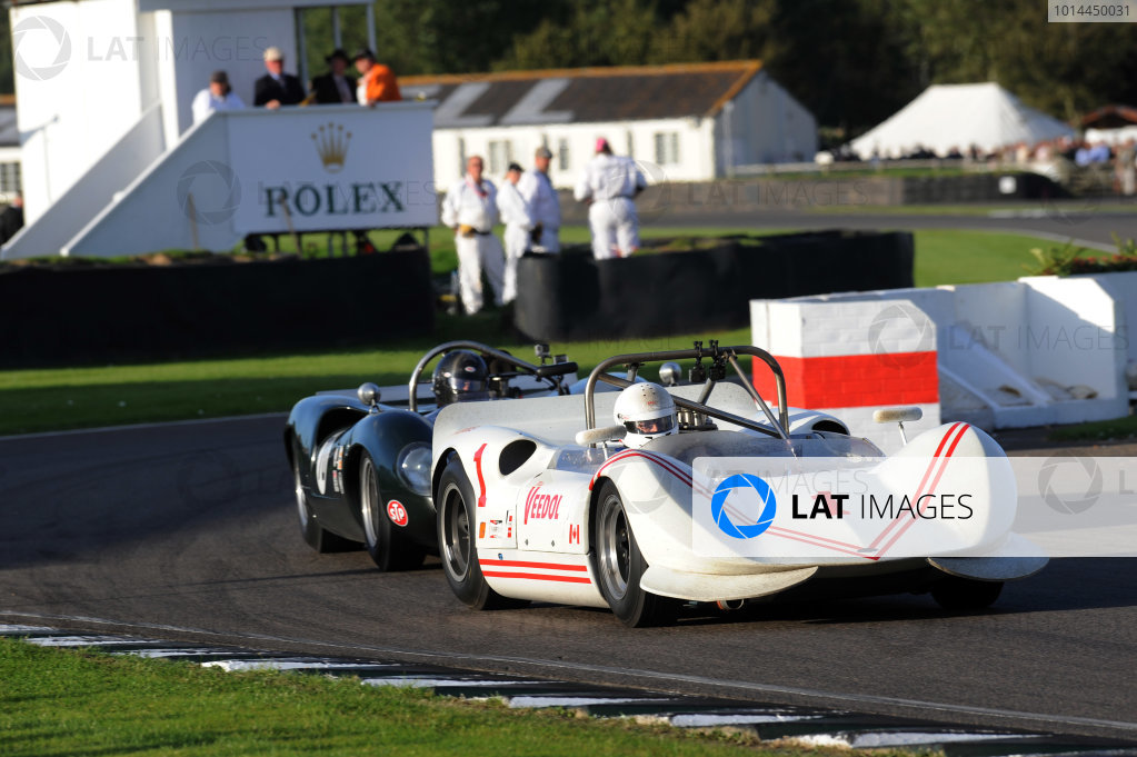 2015 Goodwood Revival Meeting Goodwood Estate, West Sussex, England 11th - 13th September 2015 Whitsun Trophy Jay Esterer Chinook World Copyright : Jeff Bloxham/LAT Photographic Ref : Digital Image DSC_9548