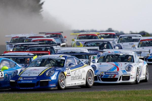 2015 Porsche Carrera Cup, Snetterton, Norfolk. 8th-9th August 2015, Stephen Jelley (GBR)  World copyright.Jakob Ebrey/LAT Photographic