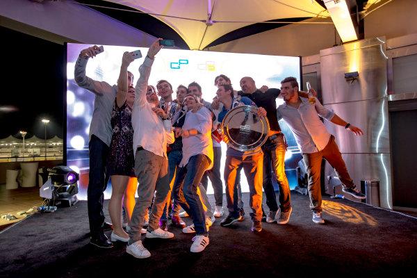 2016 GP2/3 Awards Evening. Yas Marina Circuit, Abu Dhabi, United Arab Emirates. Sunday 27 November 2016. Pierre Gasly (FRA, PREMA Racing), Antonio Giovinazzi (ITA, PREMA Racing)  Photo: Zak Mauger/GP2 Series Media Service/GP3 Series Media Service. ref: Digital Image _L0U2140