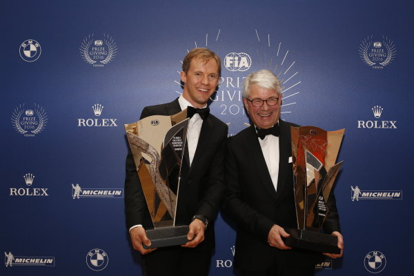2016 FIA Prize Giving Vienna, Austria Friday 2nd December 2016 Mattias Ekstrom. Photo: Copyright Free FOR EDITORIAL USE ONLY. Mandatory Credit: FIA ref: 31265817151_44afbb0804_o