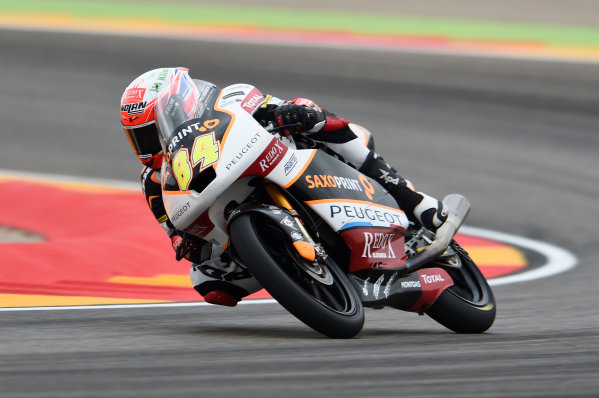 2017 Moto3 Championship - Round 14 Aragon, Spain. Friday 22 September 2017 Jakub Kornfeil, Peugeot MC Saxoprint World Copyright: Gold and Goose / LAT Images ref: Digital Image 694060