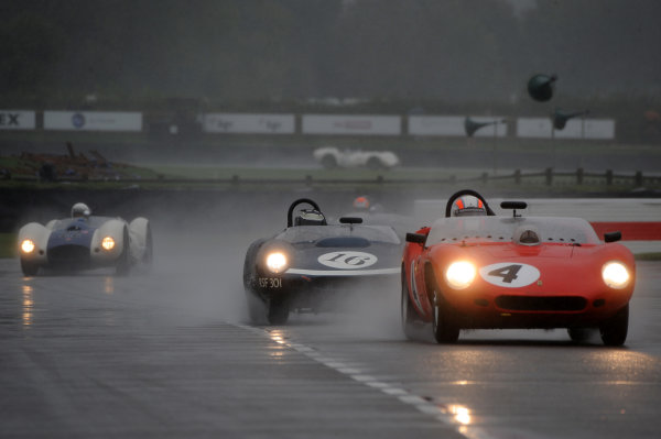 2017 Goodwood Revival, Goodwood Estate, West Sussex, England.  8th-10th September 2017 Sussex Trophy Sam Hancock Ferrari 246S Dino James Cottingham Tojeiro World Copyright: Jeff Bloxham/LAT Images, Ref: Digital Image
