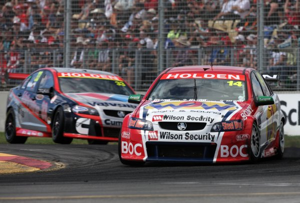 The Brad Jones Racing V8 Supercar of Cameron McConville during the Clipsal 500, Round 01 of the Australian V8 Supercar Championship Series at the Adelaide Street Circuit, Adelaide, South Australia, February 24, 2008.