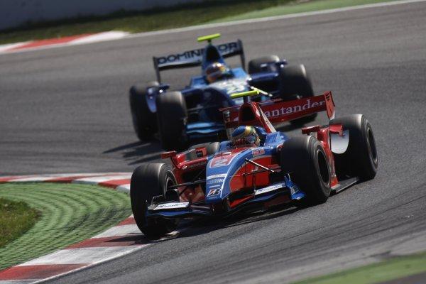 2008 GP2 Series. Round 1. Sunday Race.Barcelona, Spain. 27th April 2008Bruno Senna (BRA, iSport International) leads Pastor Maldonado (VEN, Piquet Sports). Action. World Copyright: Glenn Dunbar/GP2 Series Media Service.ref:__O9T6771 jpg
