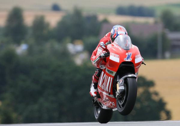 Sachsenring, Hohenstein-Ernstthal, Germany.12th July 2008.MotoGP Qualifying.Casey Stoner Marlboro Ducati Team qualifies on pole.World Copyright: Martin Heath / LAT Photographicref: Digital Image BPI_Moto 5d6c