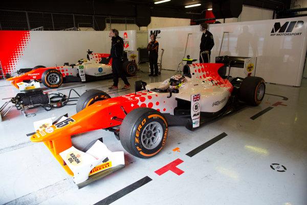 Circuit de Barcelona Catalunya, Barcelona, Spain. Wednesday 15 March 2017. Sergio Sette Camara (BRA, MP Motorsport) and Jordan King (GBR, MP Motorsport). Photo: Alastair Staley/FIA Formula 2 ref: Digital Image 580A1409