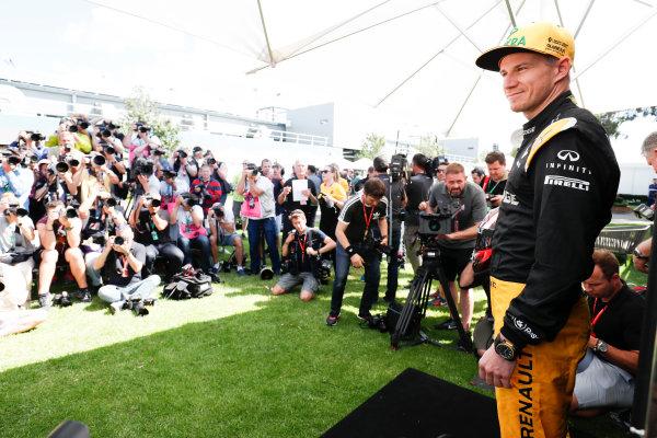 Albert Park, Melbourne, Australia. Thursday 23 March 2017. Nico Hulkenberg, Renault. World Copyright: Sam Bloxham/LAT Images ref: Digital Image _W6I0817