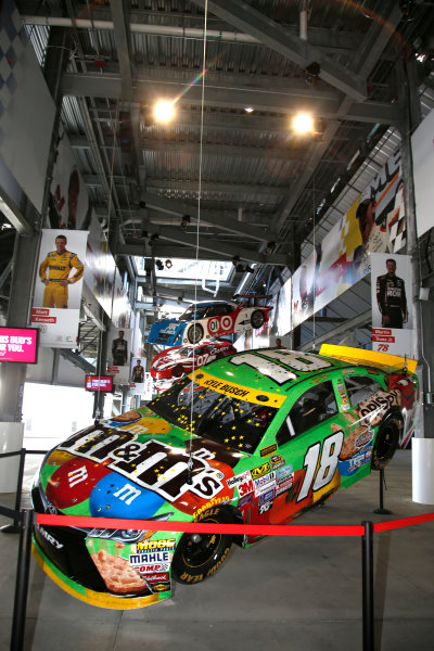 2017 NASCAR Cup - Clash at Daytona Daytona International Speedway, Daytona Beach, FL USA Friday 17 February 2017 A model of Kyle Busch's 2015 Toyota Camry is raised to the rafters in the Toyota Injector at Daytona International Speedway World Copyright: Lesley Ann Miller/LAT Images ref: Digital Image _LAM9866