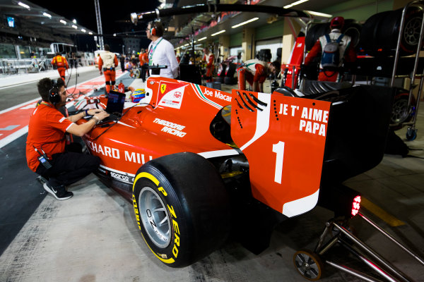 2017 FIA Formula 2 Round 11. Yas Marina Circuit, Abu Dhabi, United Arab Emirates. Saturday 25 November 2017. Charles Leclerc (MCO, PREMA Racing).  Photo: Sam Bloxham/FIA Formula 2. ref: Digital Image _W6I3239