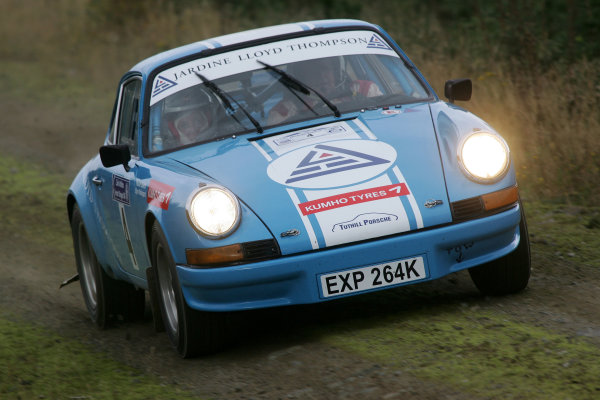 Perth, Scotland. 28th September 2008. Bjorn Waldegaard/Pauline Gullick - Porsche 911 World Copyright: Ebrey/LAT Photographic