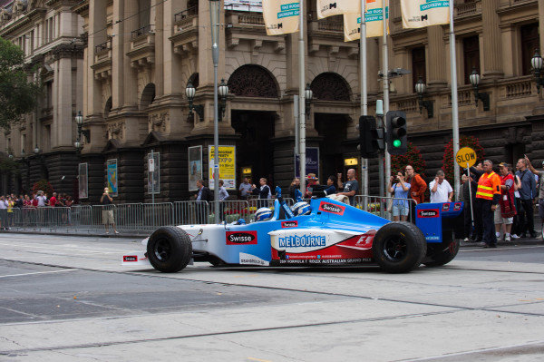 Swisse Two Seater at Melbourne Town Hall. Formula One World Championship, Rd1, Australian Grand Prix, Preparations, Albert Park, Melbourne, Australia, Tuesday 11 March 2014.