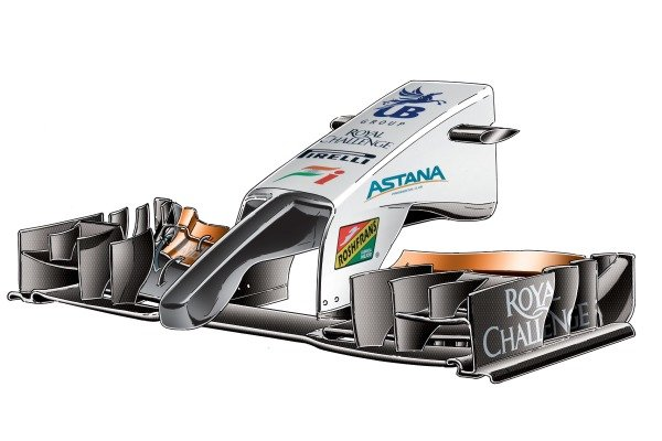 Force India VJM07 nose detail (specification up until this GP)