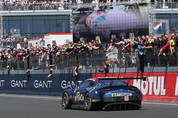 2017 Le Mans 24 Hours Circuit de la Sarthe, Le Mans, France. Sunday 18th  June 2017 #90 TF Sport Aston Martin Vantage: Salih Yoluc, Euan Hankey, Rob Bell  World Copyright: JEP/LAT Images