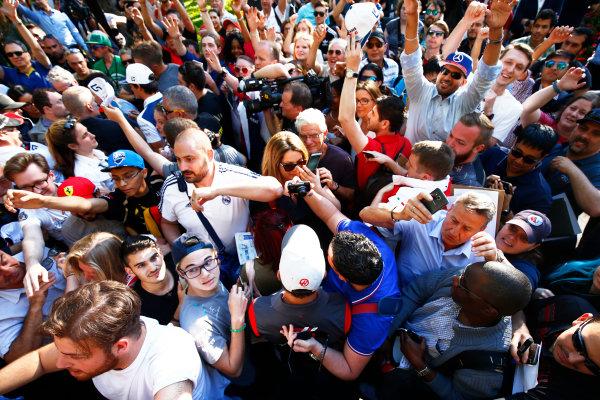 Circuit Gilles Villeneuve, Montreal, Canada. Wednesday 7 June 2017. Romain Grosjean, Haas F1.  World Copyright: Hone/LAT Images ref: Digital Image _ONZ1236