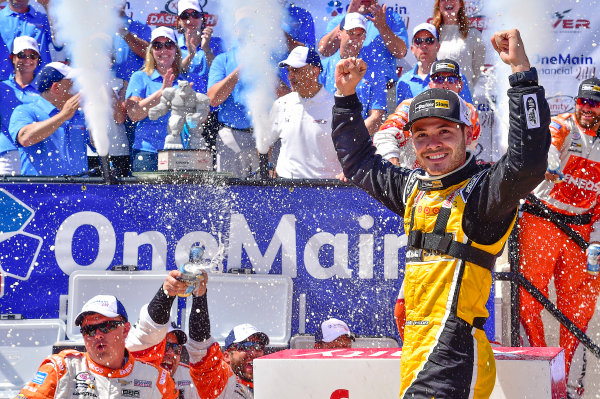 NASCAR XFINITY Series One Main Financial 200 Dover International Speedway, Dover, DE USA Saturday 3 June 2017 Kyle Larson, ParkerStore Chevrolet Camaro, celebrates in Victory Lane. World Copyright: John K Harrelson LAT Images ref: Digital Image 17DOV1jh_05166