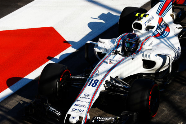 Baku City Circuit, Baku, Azerbaijan. Saturday 24 June 2017. Lance Stroll, Williams FW40 Mercedes.  World Copyright: Steven Tee/LAT Images ref: Digital Image _R3I3328
