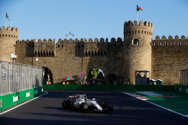 Baku City Circuit, Baku, Azerbaijan. Friday 23 June 2017. Lance Stroll, Williams FW40 Mercedes. World Copyright: Steven Tee/LAT Images ref: Digital Image _R3I2568