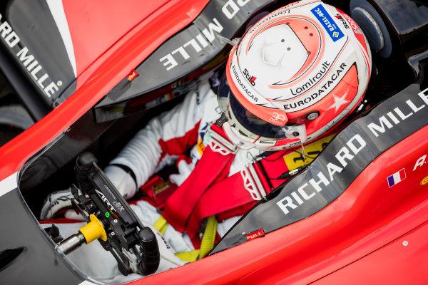 2017 GP3 Series Round 3.  Silverstone, Northamptonshire, UK. Sunday 16 July 2017. Anthoine Hubert (FRA, ART Grand Prix).  Photo: Zak Mauger/GP3 Series Media Service. ref: Digital Image _56I9861