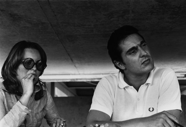 Nurburgring, Germany. 31st May 1970.Peter Schetty with Jacky Ickx's wife, Catherine, portrait. World Copyright: LAT Photographic.Ref:  3971 - 9.