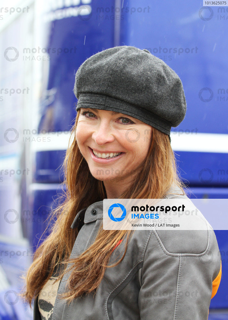 British Grand Prix. Silverstone, England. 10th-12th June 2011. Tv presenter Suzi Perry visits the MotoGP paddock where she used to work. Portrait. World Copyright: Kevin Wood/LAT Photographic. ref: Digital Image