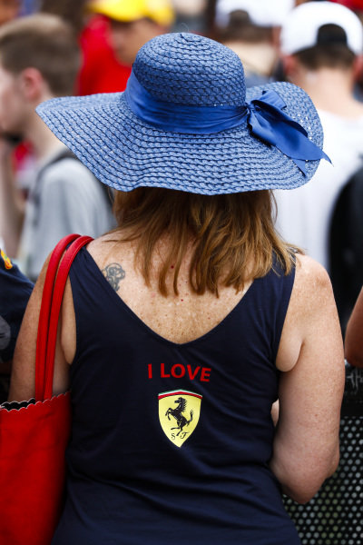 Ferrari fan in the fan zone