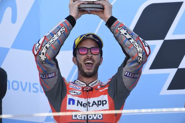 Podium: second place Andrea Dovizioso, Ducati Team