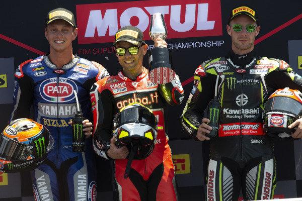 Michael van der Mark, Pata Yamaha, Alvaro Bautista, Aruba.it Racing-Ducati Team, Jonathan Rea, Kawasaki Racing