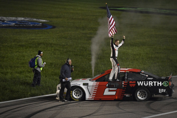 #2: Brad Keselowski, Team Penske, Ford Mustang Wurth, winner