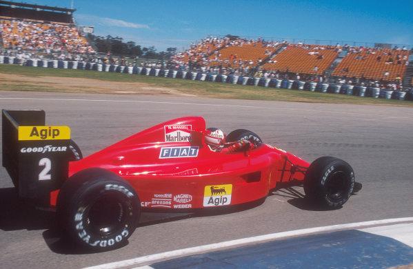 1990 Australian Grand Prix.Adelaide, Australia.2-4 November 1990.Nigel Mansell (Ferrari 641) 2nd position Ref-90 AUS 09.World Copyright - LAT Photographic
