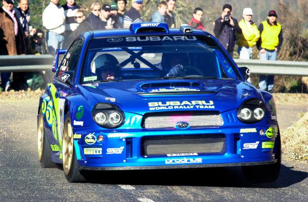 2002 World Rally ChampionshipRally Catalunya, 21st-24th March 2002.Petter Solberg during shakedown.Photo: Ralph Hardwick/LAT