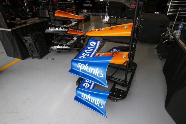 #7: Felix Rosenqvist, Arrow McLaren SP Chevrolet, Front Wing