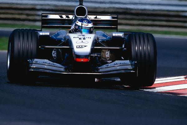 2002 Hungarian Grand Prix.Hungaroring, Budapest, Hungary. 16-18 August 2002.Kimi Raikkonen (McLaren MP4/17 Mercedes) 4th position.Ref-02 HUN 14.World Copyright - Bellanca/LAT Photographic