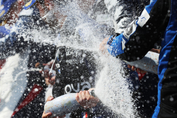 Champagne on the podium